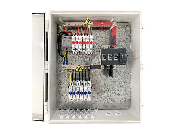 1500V Combiner box open 2