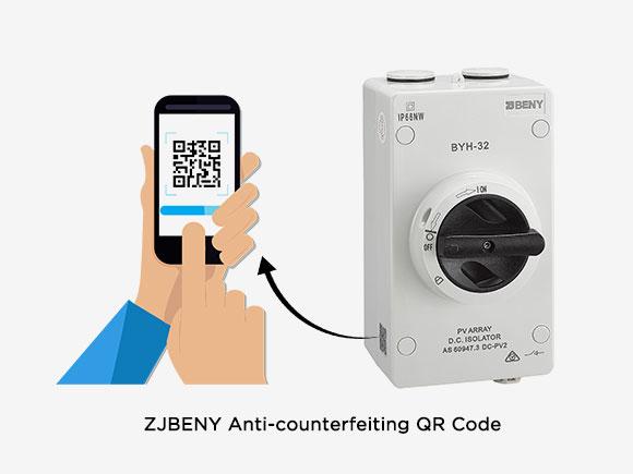 BENY Electric anti-counterfeiting QR code